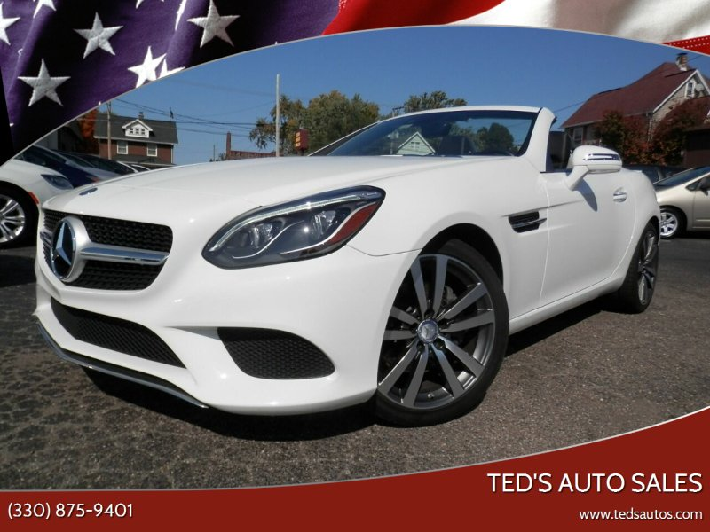 2017 Mercedes-Benz SLC for sale at Ted's Auto Sales in Louisville OH