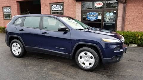 2014 Jeep Cherokee for sale at R C Motors in Lunenburg MA