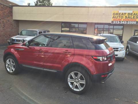 2015 Land Rover Range Rover Evoque for sale at GREAT DEAL AUTO SALES in Center Line MI