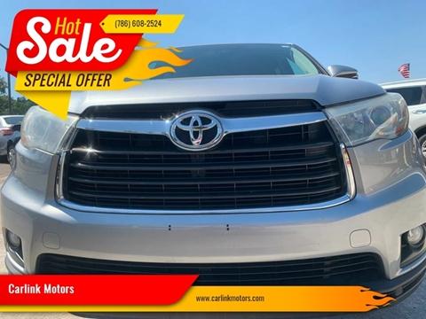2015 Toyota Highlander LE for sale at Carlink Motors in Miami FL