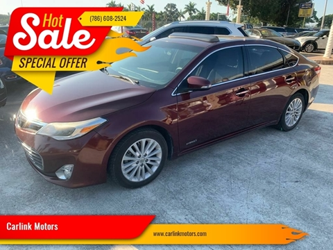 2014 Toyota Avalon Hybrid XLE Touring for sale at Carlink Motors in Miami FL