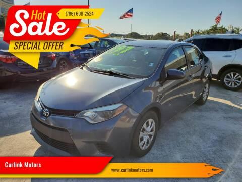 2014 Toyota Corolla L for sale at Carlink Motors in Miami FL