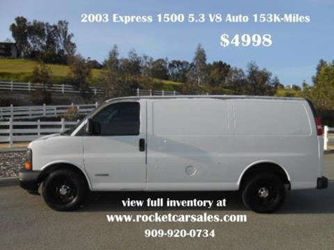 2003 Chevrolet Express Cargo For Sale In Rancho Cucamonga Ca