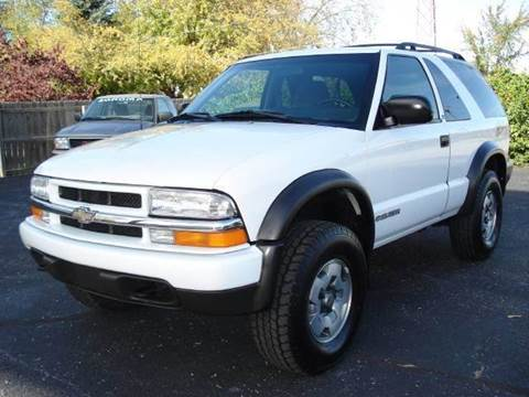 2002 Chevrolet Blazer for sale at Tonys Pre Owned Auto Sales in Kokomo IN