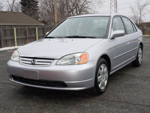 2002 Honda Civic for sale at Tonys Pre Owned Auto Sales in Kokomo IN