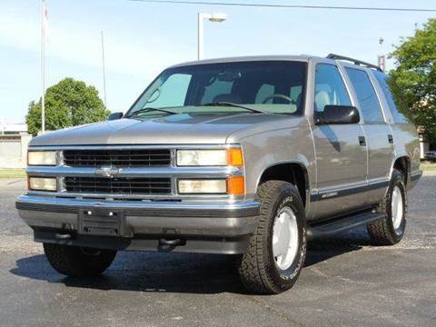 1999 Chevrolet Tahoe for sale at Tonys Pre Owned Auto Sales in Kokomo IN
