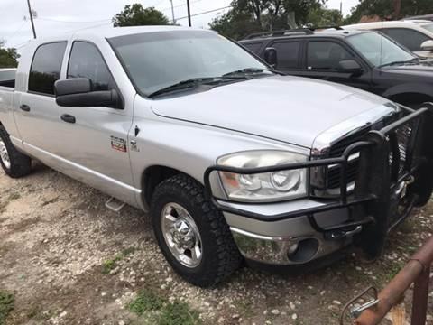 2008 Dodge Ram Pickup 2500 for sale at BULLSEYE MOTORS INC in New Braunfels TX