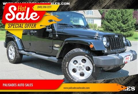 2015 Jeep Wrangler Unlimited Sahara for sale at PALISADES AUTO SALES in Nyack NY