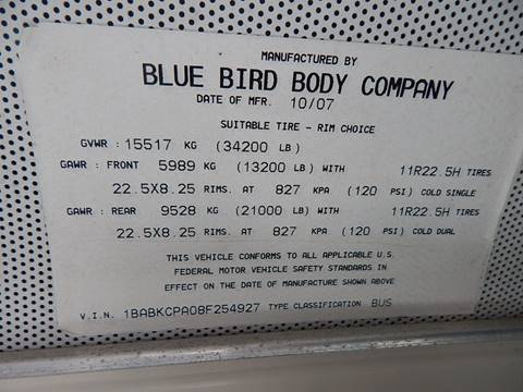 2008 Blue Bird All American / All Canadian