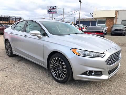 2016 Ford Fusion for sale at SKY AUTO SALES in Detroit MI