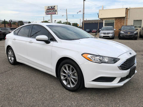 2017 Ford Fusion for sale at SKY AUTO SALES in Detroit MI