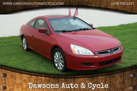 2007 Honda Accord for sale at Dawsons Auto & Cycle in Glen Burnie MD