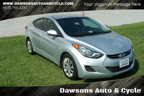 2013 Hyundai Elantra for sale at Dawsons Auto & Cycle in Glen Burnie MD