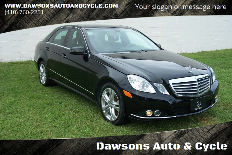 2011 Mercedes-Benz E-Class for sale at Dawsons Auto & Cycle in Glen Burnie MD