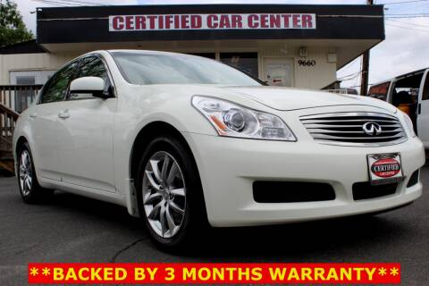 2008 Infiniti G35 x for sale at CERTIFIED CAR CENTER in Fairfax VA