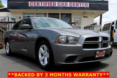 2012 Dodge Charger SE for sale at CERTIFIED CAR CENTER in Fairfax VA