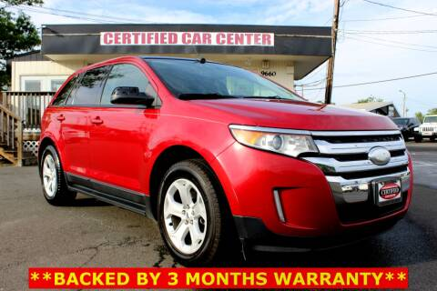 2012 Ford Edge SEL for sale at CERTIFIED CAR CENTER in Fairfax VA