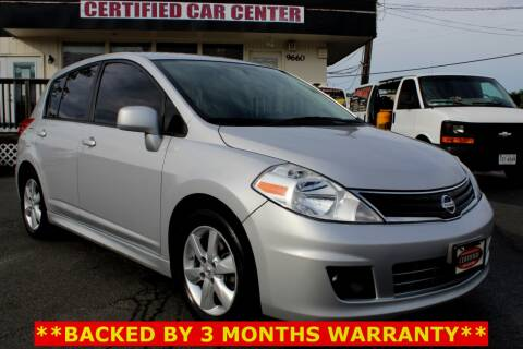2012 Nissan Versa 1.8 SL for sale at CERTIFIED CAR CENTER in Fairfax VA