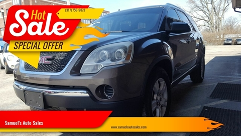 2010 GMC Acadia for sale at Samuel's Auto Sales in Indianapolis IN