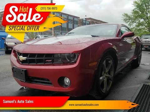 2013 Chevrolet Camaro for sale at Samuel's Auto Sales in Indianapolis IN