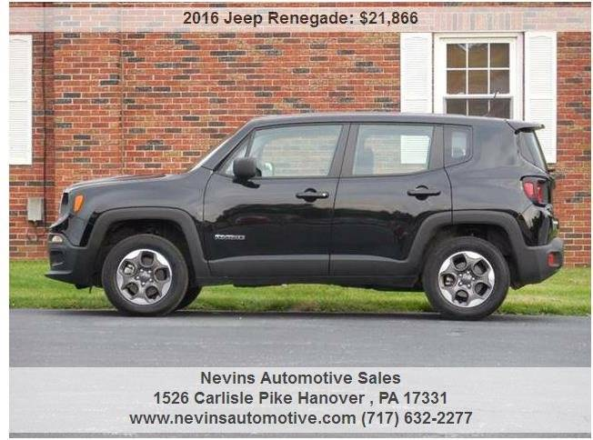 2016 Jeep Renegade 4x4 Sport 4dr SUV - Hanover PA