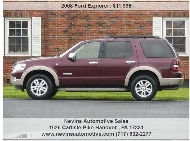 2008 Ford Explorer 4x4 Eddie Bauer 4dr SUV (V8) - Hanover PA