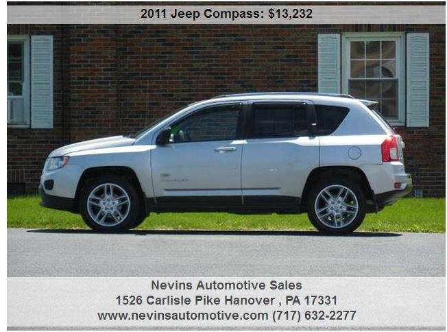 2011 Jeep Compass 4x4 70th Anniversary 4dr SUV - Hanover PA