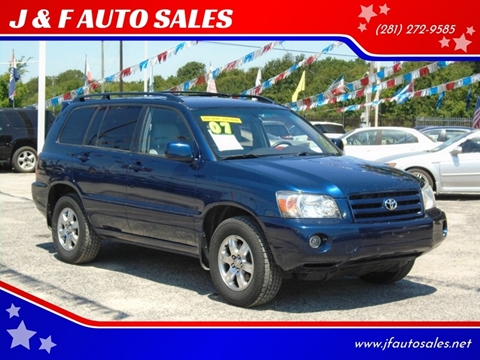 2007 Toyota Highlander for sale at J & F AUTO SALES in Houston TX