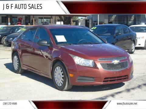 2013 Chevrolet Cruze for sale at J & F AUTO SALES in Houston TX
