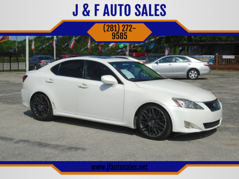 2006 Lexus IS 350 for sale at J & F AUTO SALES in Houston TX