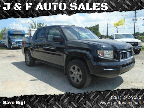 2007 Honda Ridgeline for sale at J & F AUTO SALES in Houston TX