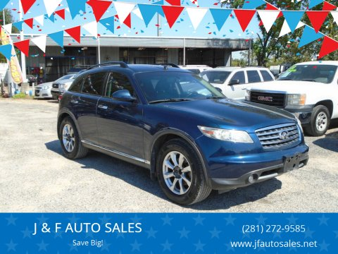 2008 Infiniti FX35 for sale at J & F AUTO SALES in Houston TX
