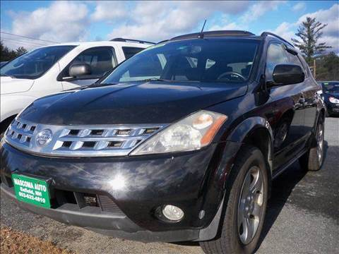 2003 Nissan Murano for sale at Mascoma Auto INC in Canaan NH