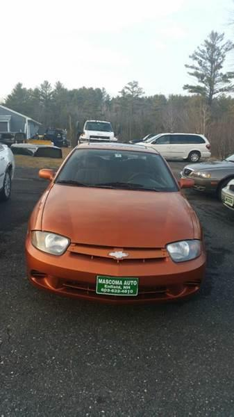 2004 Chevrolet Cavalier for sale at Mascoma Auto INC in Canaan NH