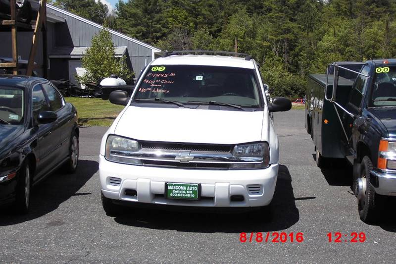 2002 Chevrolet TrailBlazer for sale at Mascoma Auto INC in Canaan NH
