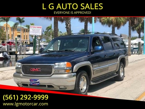 2003 GMC Yukon XL for sale at L G AUTO SALES in Boynton Beach FL