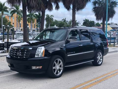 2008 Cadillac Escalade ESV for sale at L G AUTO SALES in Boynton Beach FL