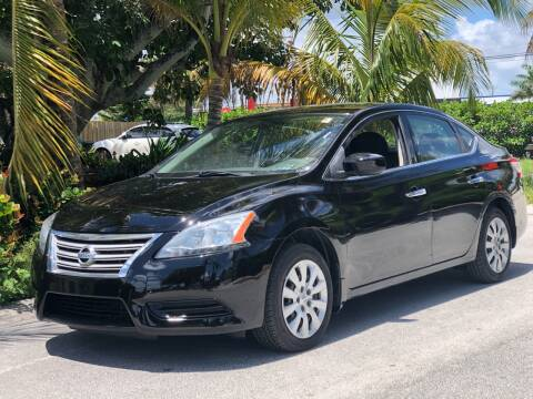 2014 Nissan Sentra for sale at L G AUTO SALES in Boynton Beach FL