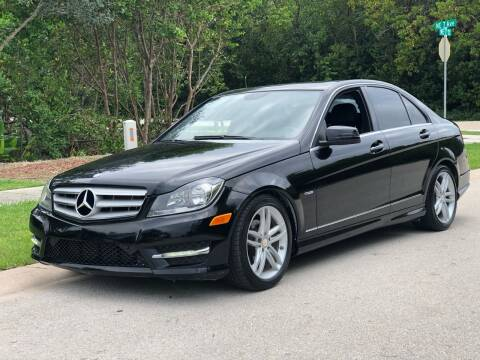 2012 Mercedes-Benz C-Class for sale at L G AUTO SALES in Boynton Beach FL