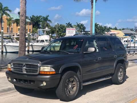2002 Dodge Durango for sale at L G AUTO SALES in Boynton Beach FL