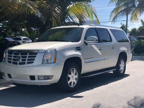 2007 Cadillac Escalade ESV for sale at L G AUTO SALES in Boynton Beach FL