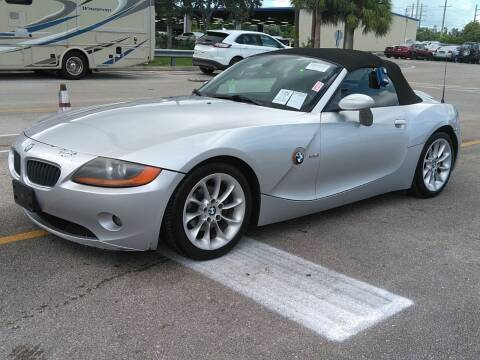 2004 BMW Z4 for sale at L G AUTO SALES in Boynton Beach FL