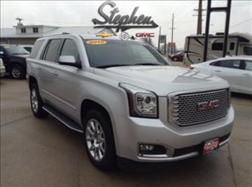 2015 GMC Yukon for sale at Stephen Motors in Monticello IA