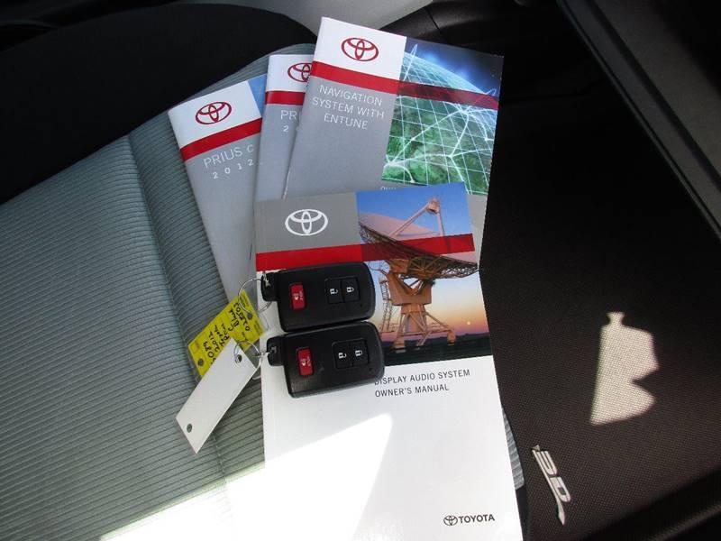 2012 toyota prius c manual