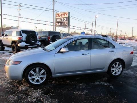 2004 Acura TSX for sale at TRI CITY AUTO SALES LLC in Menasha WI