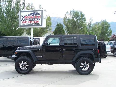 2014 Jeep Wrangler Unlimited for sale at Haacke Motors in Layton UT