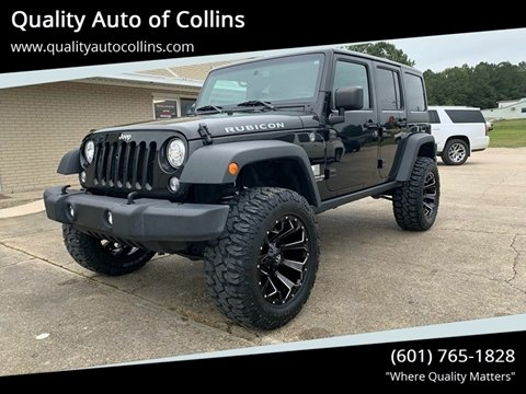 2017 Jeep Wrangler Unlimited for sale in Collins, MS