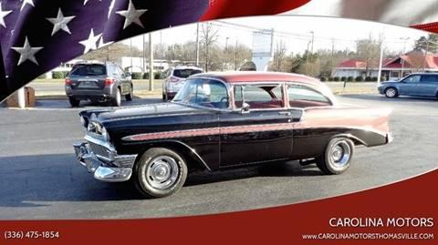 1956 Chevrolet Bel Air for sale at CAROLINA MOTORS - Carolina Classics & More-Thomasville in Thomasville NC