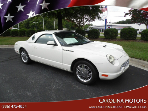 2002 Ford Thunderbird for sale at CAROLINA MOTORS in Thomasville NC