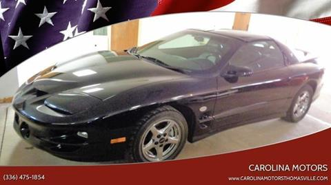 2002 Pontiac Firebird for sale at CAROLINA MOTORS - Carolina Classics & More-Thomasville in Thomasville NC